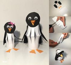 57 Mesmerizing Autumn Crafts for Kids That Are Just Too Magnetic to Say 'No' Paper Cutout Penguin Craft Winter Diy, Winter Crafts For Kids, Autumn Crafts, Paper Crafts For Kids, Craft Activities For Kids, Winter Activities, Art For Kids, Polar Animals, Penguin Craft