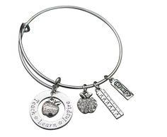 Infinity Collection Teacher Bracelet, Teacher Jewelry, Teacher Gift - Show Your Teacher Appreciation >>> Read more at the image link.