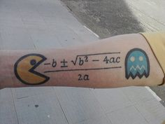 Pac-Math Tattoo ... hehe this is just silly!
