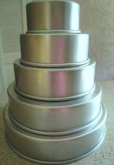 "Magic Line 3"" Round Professional Cake Pans Set 5 6-14"" $54"