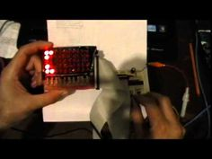 Prueba de una matriz de LED de 10x5, utilizando el PIC18F2680
