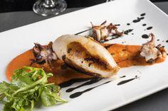 Carte Été 2016 - L'encornet farci, risotto carnaroli, chorizo & beurre blanc encre de seiche #gastronomie #lyon #seafood #restaurant