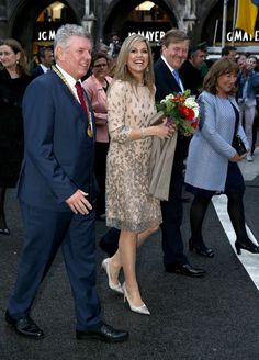 ♥•✿•QueenMaxima•✿•♥... April 13, 2016... King Willem Alexander and Queen Maxima visit Munich