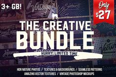 The Creative Bundle: Textures, Patterns, Photos, Backgrounds and more - only $27!