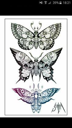 Skull Tattoo Flowers, Skull Tattoos, Flower Tattoos, Body Art Tattoos, Hand Tattoos, Tattoo On, Dark Tattoo, Mandala Tattoo, Flash Art Tattoos