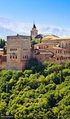 The Alhambra in Granada, Spain. For luxury hotels in Spain visit http://www.mediteranique.com/hotels-spain/