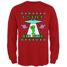 Old Glory Ancient Aliens Ugly Christmas Sweater Green Toddler Hoodie