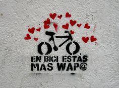 """""""en bici estas mas guap@"""". it's impossible to ride your bike without a smile!"""