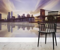 Transform your space into a dreamy setting with a wonderful urban backdrop. This wall mural captures a serene atmosphere in this bustling city.