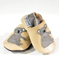Take a look at this Natural Koala Booties by SKEANIE on #zulily today!