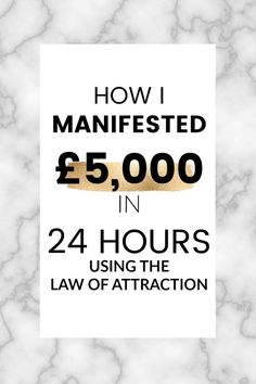 One morning, I was sent a huge unexpected bill to pay and I had no money to pay it with - the only hope I had was the universe. 24 hours later, £5,000 was on its way to my bank account. Here's everything I did, step-by-step, to manifest that money.