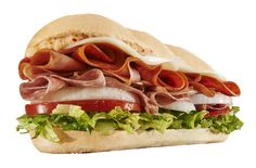 Mr. Hero's Italiano. Made with Pepperoni, salami, smoked ham, Capicola ham, oil 'n spice, and fresh veggies on a toasted roll. Pick your cheese, sauce, and decide if you want it toasted on the grill!