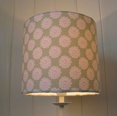 Daisy lampshade in sage green Clarke and Clarke Daisy fabric, handmade in 20cm or 30cm diameter