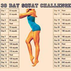 Squat Challenge -- I'm doing it!!!