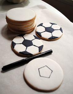 how to make fondant soccer balls