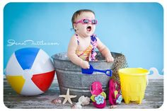 beach props baby photography