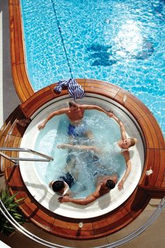 Relaxing in a spa on the deck #PrincessCruises #travel