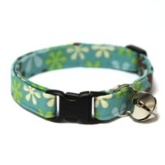 Cat Collar Breakaway Groovy Teal by MogsTogs on Etsy, $8.00. For Chester, maybe?