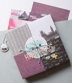 Mini album Happiness : l'intégrale et kits en vente Mini Album Scrap, Mini Albums Scrapbook, Handmade Scrapbook, Diy Scrapbook, Minis, Mini Photo, Memory Books, Smash Book, Unicorn Party