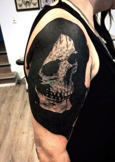 """´did my first """"blast over"""" todaychris webertragic kingdom tattoo, mannheim germany Blast Over Tattoo, Blackout Tattoo, Armor Tattoo, Cover Up Tattoos, Having A Blast, Tattos, Body Art, Tattoo Ideas, Germany"""