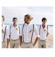 wedding groom attire Super Wedding Suits Men Cream Groom Attire Ideas Best Picture For classy Country Outfit For Your Taste You are looking for something, and it is going to tell you exactly wh Groomsmen Suspenders, Groomsmen Outfits, Groom And Groomsmen, Groomsmen Beach Attire, Groomsman Attire, Vintage Groomsmen Attire, Wedding Suspenders, Groom Suits, Beach Wedding Groom Attire