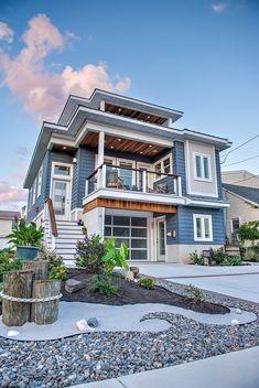 Beach House Plans, Dream House Plans, Beach House Decor, House Near Beach, Dream House Images, Ocean House, Contemporary Beach House, Modern Wood House, Beachfront House