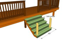 How To Build A Porch Stair Railing | Porch Stairs, Stair Railing And Porch