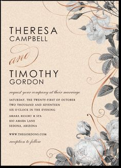 gilded deco styled wedding invite from costco. costco, people, Wedding invitations