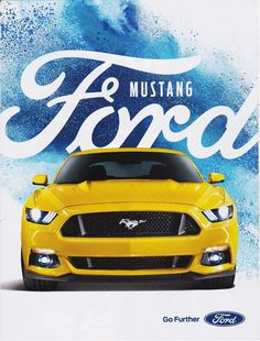 FORD MUSTANG 2015 magazine ad print art page clipping car automobile yellow