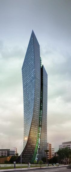 Port Baku III Tower, Baku, Azerbaijan [Future Architecture: http://futuristicnews.com/category/future-architecture/]