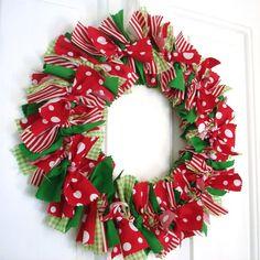 Christmas Wreath. Polka Dot