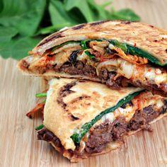 Kimchi Bulgogi Panini HealthyAperture.com
