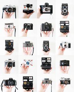 Displaying Vintage Cameras