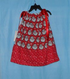 Christmas Santa Snowflake Pillowcase Dress by VickysCreation, $20.00
