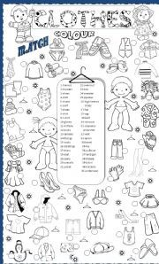 English Worksheets: clothes
