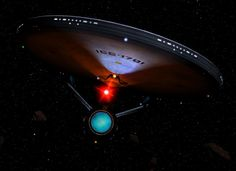 The Enterprise A from the Star Trek Movies The Motion Picture, The Wrath of Kahn, The Search for Spock, The Voyage Home, The Final Frontier and The Undiscovered Country