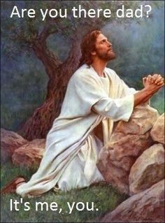 Jesus praying in the garden of Gethsemane picture - Are you there