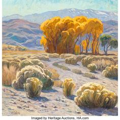 Fine Art - Painting, American:Contemporary   (1950 to present)  , Tim Solliday (American, b. 1952). Desert Landscape. Oil oncanvas. 30 x 30 inches (76.2 x 76.2 cm). Signed lower left: ...