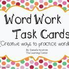 These are task cards for spelling and word work practice. They can be used any way that you would like to use them! These are things that I have do...