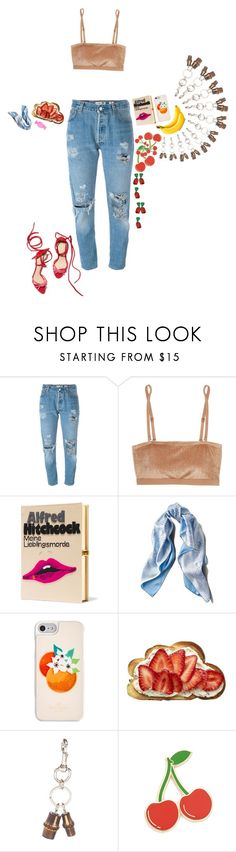 """Boyfriend jeans"" by felice-falk ❤ liked on Polyvore featuring Levi's, Base Range, Olympia Le-Tan, Asprey, Kate Spade, Gucci and Georgia Perry"