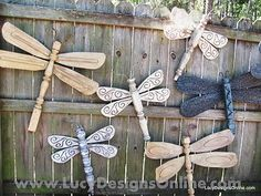 Table Legs and Ceiling Fan Blades!  Painted bright colors...cute for the yard esp if the fence was painted by vera