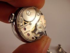 Vintage Bucherer Watch Ladies Skeleton Bubble Ball Pendant With FOB Brooch Pin #Bucherer