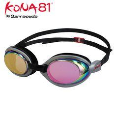 Barracuda KONA81 Swim Goggle K514 MIRROR - Mirror Lenses Silicone Gaskets, Anti-fog UV Protection, Easy adjusting Comfortable No leaking, Triathlon Racing for Adults Men Women #51410