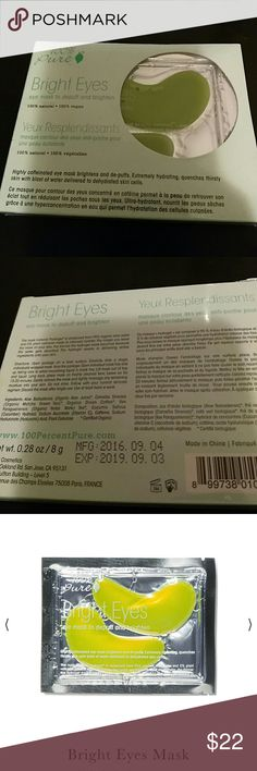 100%pure  brighten eye masks Brand new 5 pairs of eye masks. Expire date September 2019 100%pure Makeup