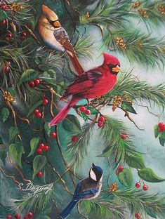 Feathered Friends by Sharon Duguay