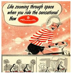 """midcenturyblog: """" Space Age Cyclist by paul.malon on Flickr. 1952. """""""