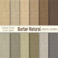 Burlap digital paper BURLAP NATURAL Burlap Linen by DigitalStories  https://www.etsy.com/listing/176807387/burlap-digital-paper-burlap-natural?ref=shop_home_active_24