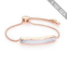 Monica Vinader Baja 18K Rose Gold-Plated Vermeil & Agate Bracelet