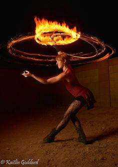 Fire Hooping with Jessica Packard | hooping.org