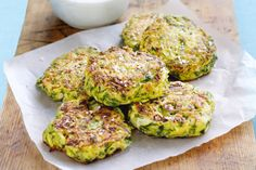 Here's a clever way to get the kids to eat their vegies.  These versatile Zzcchini fritters are also great served as a side dish or for brekkie at the weekend.